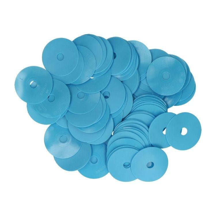 Oorplaatjes blauw, set à 100 stuks